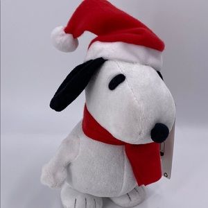 Holiday dnoopy peanuts danving swaddler plush